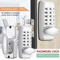 Механический дверной замок Пароль безопасности цифровой замок ввода кода внешний механизм контроля доступа Аксессуары для замка без ключа