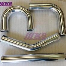 Труба интеркулера 2,5 дюйма/63 мм/прямая/90 градусов/45 градусов/180 градусов/толщина 2 мм/DIY алюминиевая труба/воздухозаборная труба