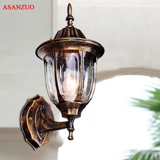 Black Bronze Porch Lights Ing Antique Garden Lamp Exterior Balcony Wall Aisle Corridor Outdoor