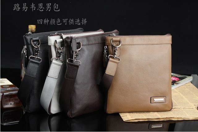 Free Shipping!!!2014 New first class 100%Leather Bags For Men(Retail)