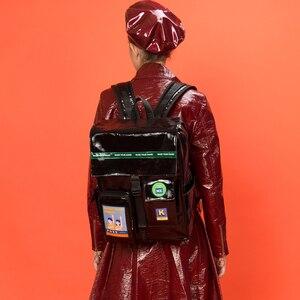 Image 3 - 2019 Originele black waterdichte grote rugzakken schooltassen voor tieners 15.6inch laptop tassen in POSE serie 2 (FUN KIK)