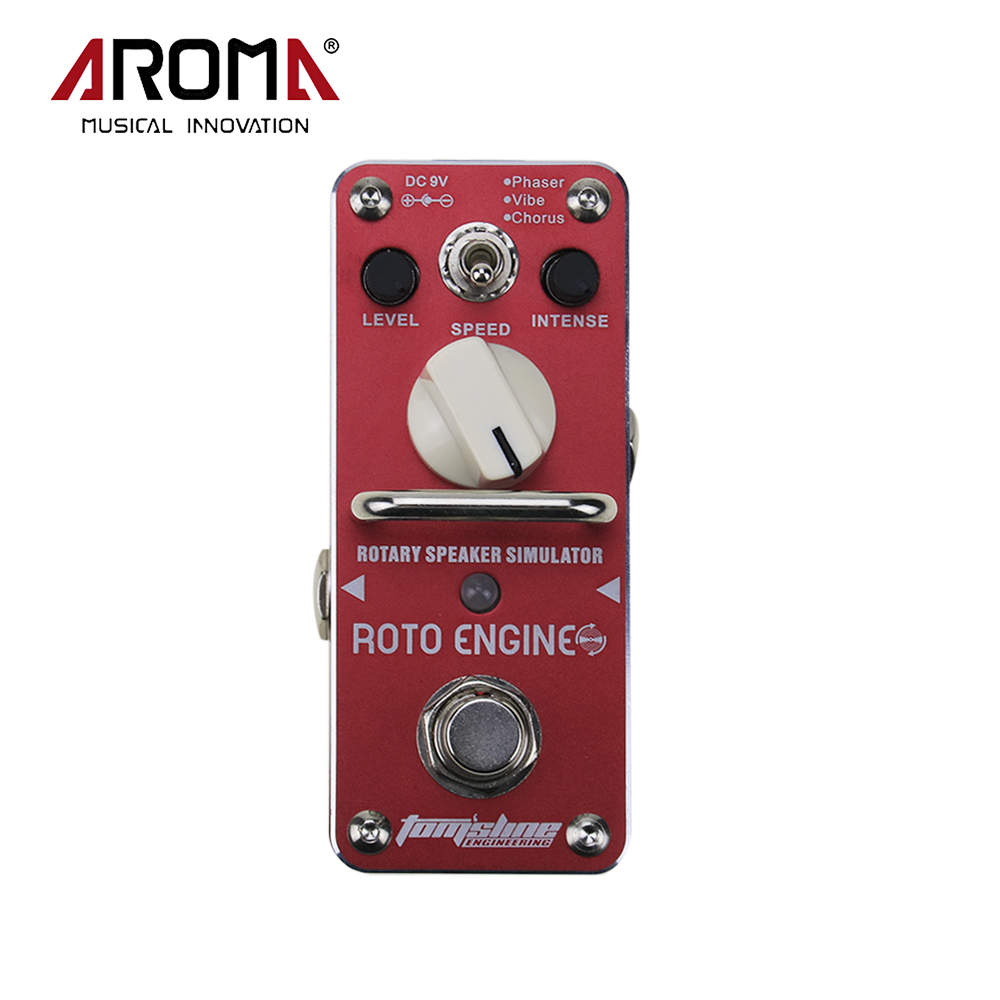 Aroma ARE-3 ROTO Engine Rotary Speaker Simulator Multi Modulation Guitar Mini Analogue Effect Pedal aroma are 3 roto engine guitar effect pedal mini digital pedals effects ce rohs with true bypass