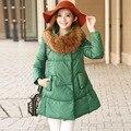 ¡ Venta caliente! 2016 Nuevas mujeres de la moda Abrigo de Invierno Espesar Las Mujeres Delgadas Parka Abrigo de Invierno