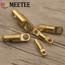 Meetee 5pcs Brass Keychain Copper Rotating Swivel Buckle Bag Connecting Ring Connector DIY Handmade Accessories Parts ZL2031