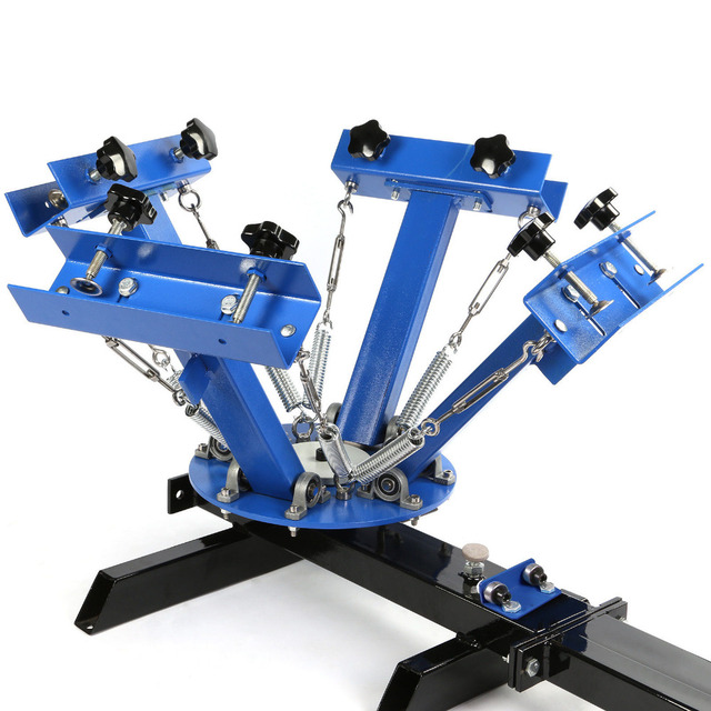 7a9723a8 4 Color 1 Station Silk Screen Printing Machine Pressing T-Shirt Print  Cutting