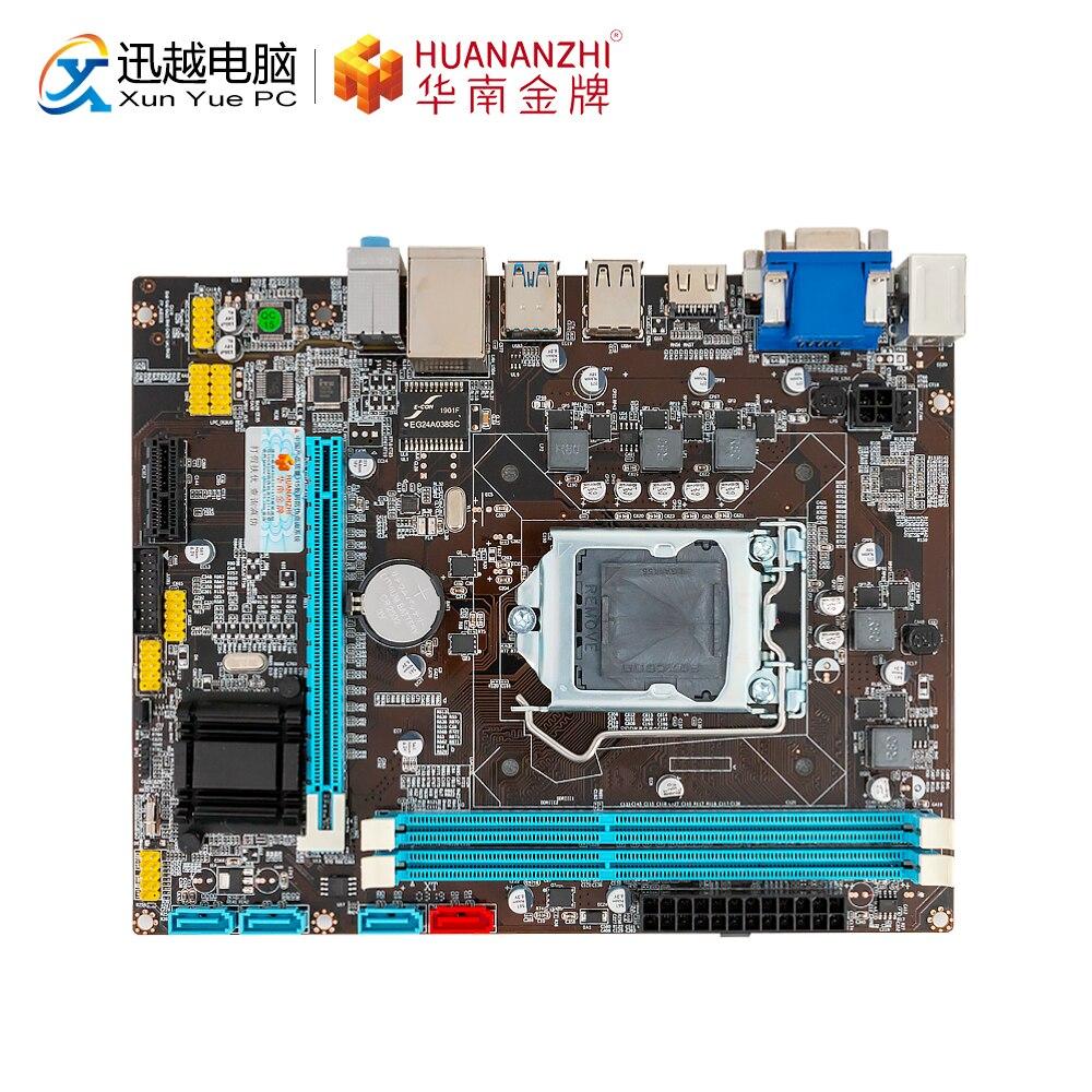 HUANAN ZHI B75 M-ATX Carte Mère B75 Pour Intel LGA 1155 i3 i5 i7 E3 DDR3 1333/1600 MHz 16 GO SATA3.0 USB3.0 PCI-E VGA HDMI