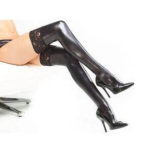 Новинка, лидер продаж, оптовая продажа, кружевные колготки из кожи с рисунком, пикантные носки, нижнее белье, эротические кожаные Чулочные и...