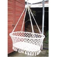 Indoor garden wind baby cradle outdoor leisure baby hammock KIDS swinging hanging bed for children White color