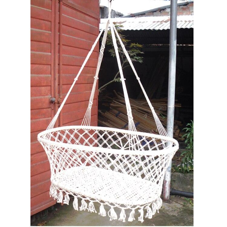 Indoor garden wind baby cradle outdoor leisure baby for Indoor hanging bed