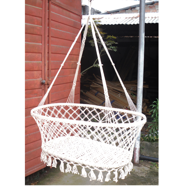 Indoor garden wind baby cradle outdoor leisure baby hammock KIDS swinging hanging bed for children White color