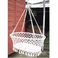Indoor Garden Wind Baby Cradle Outdoor Leisure Baby Hammock Swinging Hanging Bed For Children White Color