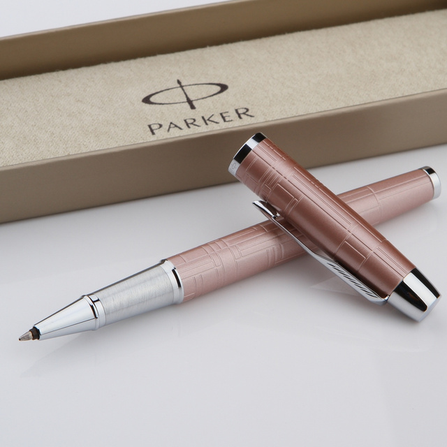 Luxury Pen Ol Parker Deluxe Rollerball Pens Office Supplies Quality Laser Stationery Usa Brand Pink