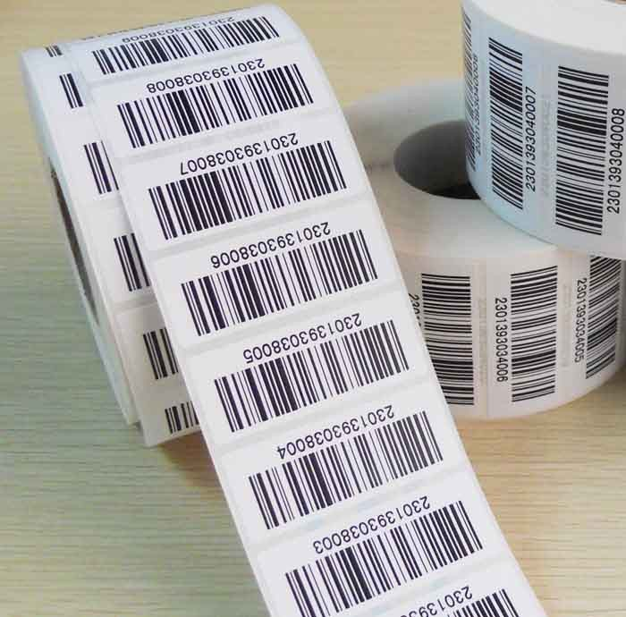 Custom Printed UPC Bar Code Number Label Stickers with your legal UPC number.