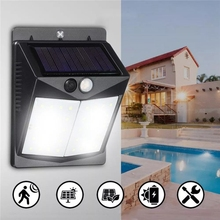 Solar 40 LED Wall Light PIR Motion Waterproof Outdoor Wide Angle Security Yard Garden Lamp solar power 5w pir motion sensor 48 led solar light outdoor garden light waterproof security wide angle wall lamp with remote