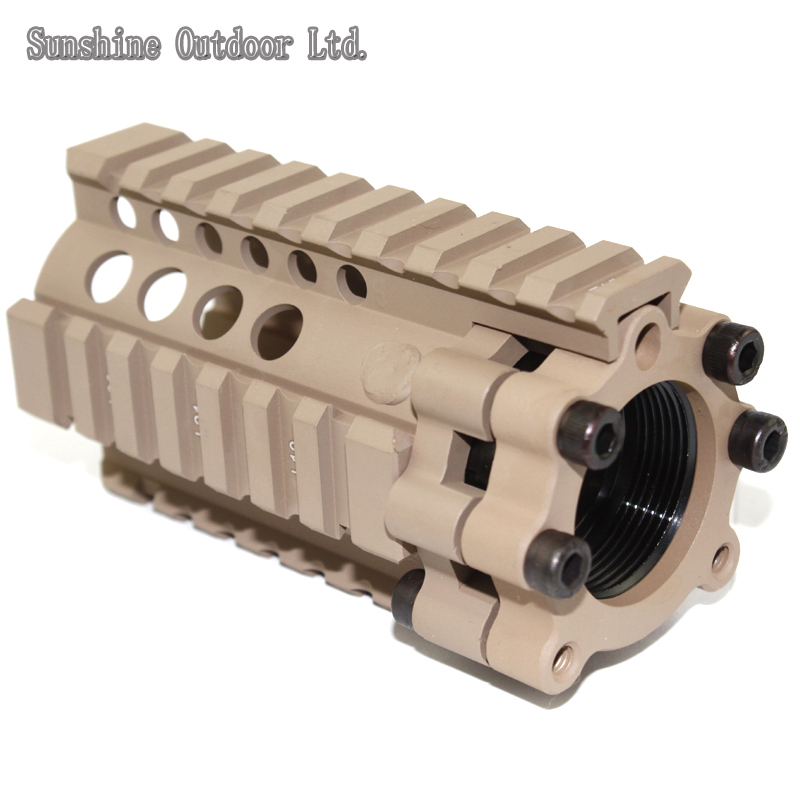 Picatinny rail 4.2 inch aluminum handguard rail Indoor or melee CQB system DE for AEG M4 / M16 hunting picatinny rail 4 25 inch handguard rail cqb tactical rail systems for aeg m4 m16