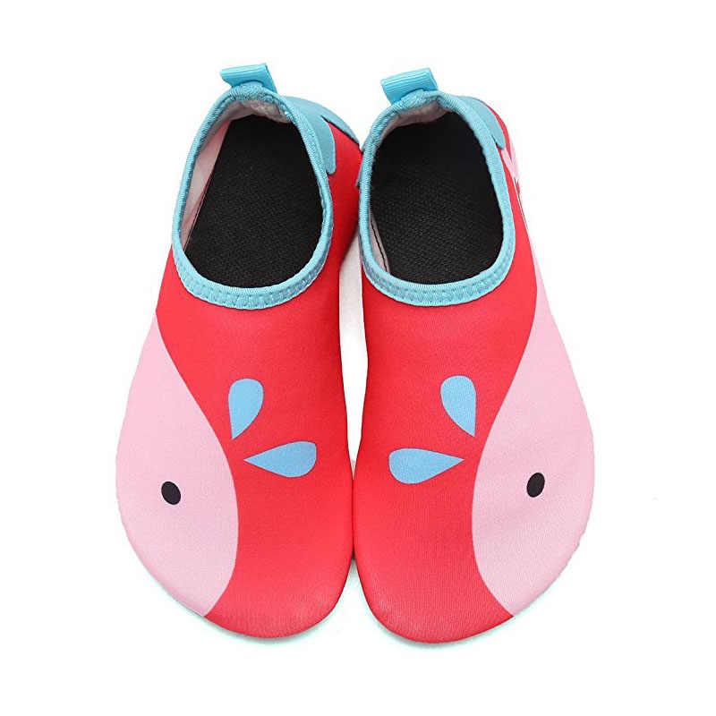 51588531c0 ... Los niños de secado rápido nadar zapatos de agua zapatos casuales  calzado descalzo ligero Aqua calcetines ...