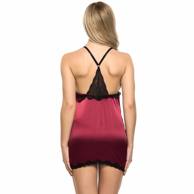 Sexy Night Lingerie Erotica Baby Doll Dress Women Lace Satin Hot Erotic Sex Clothes Sexi Short Negligee Underwear Langerie Porn 5