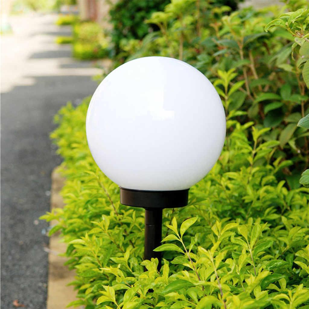 Круглая лампочка форма для подсветки газона с питанием от солнечной панели свет для садового декора Открытый водонепроницаемый Боллард солнечные светящиеся палки белый кемпинговый свет #10