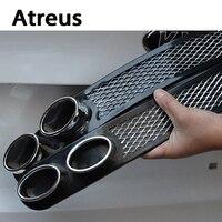 Atreus 2X 3D Automobiles Carbon Exhaust Car Sticker For Kia Ceed Hyundai Solaris Volvo Audi A3