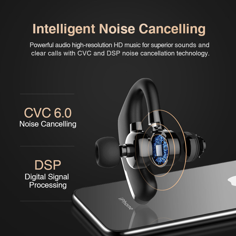 lowest price SANLEPUS Bluetooth Earphone Wireless Headphone Handsfree Headset Earbud With HD Microphone For Phone iPhone xiaomi over ear