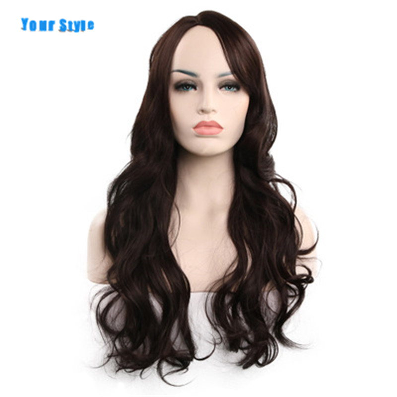 Your Style 9 Colors 12 inch Hair Styles Short Black Wavy Hair Black BOB Cuts Wigs With Side Bangs Heat Resisitant Fiber