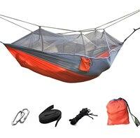 Al aire libre portable mosquitera paracaídas hamaca 2 Persona jardín camping ocio cama doble persona swing almacén