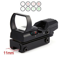 11mm Mini Tactical Holographic 4 Reticle Reflex Sight Red Green Laser Dot Sight Scopes Rifle Pistol Outdoor Hunting Lasershot