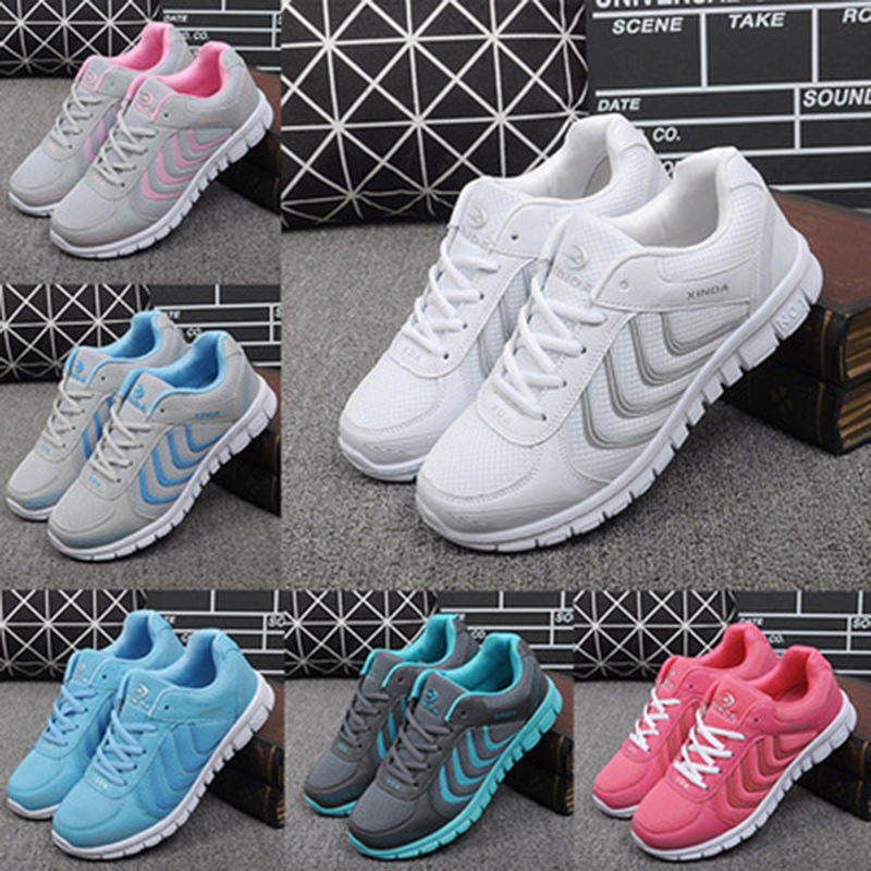 Women Shoes Casual Womens Sneakers Shoes 2019 Fashion Tenis Feminino Light Breathable Mesh Shoes Woman White Sneakers