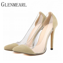 2018 Spring Autumn Sexy Pointed Women Pumps High-heeled Women Shoes Beige Black White High Heels Wedding Shoes Plus Size 42 XP35
