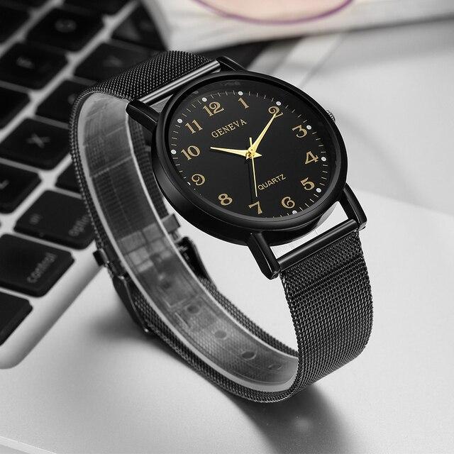 New Women's Mesh Band Luxury Watches Women Clock Quartz Watch Analog Ladies Woman Wrist Watches Bayan Saatleri Relojes De Mujer