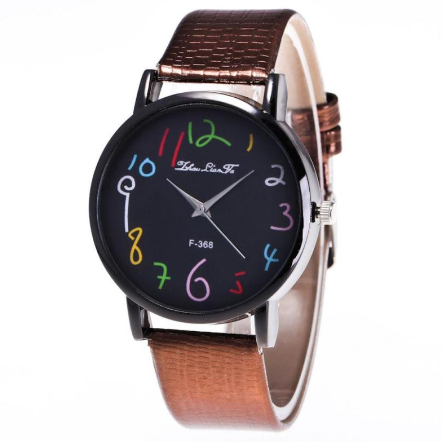 Watch Candy Color Male And Female Strap Wrist Watch Large dial fashion simple ladies watch leather strap men and women watch