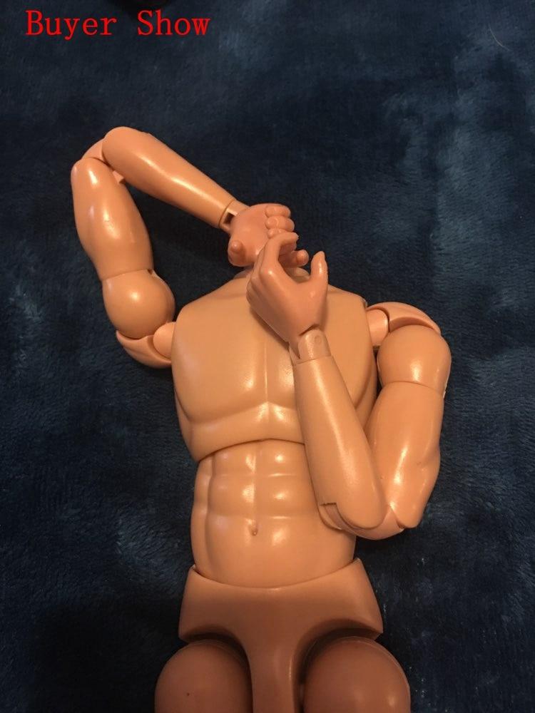"1//6 Scale 12/"" Dragon Flexible Male Nude Muscle NEO3 Man Body Figure Model Toy"