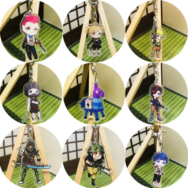 Fort Night Battle Royale Acrylic Model Toys Fortnight Game Accessories Action Figure Metal Fortnight Keychain Kids Xmas Gifts