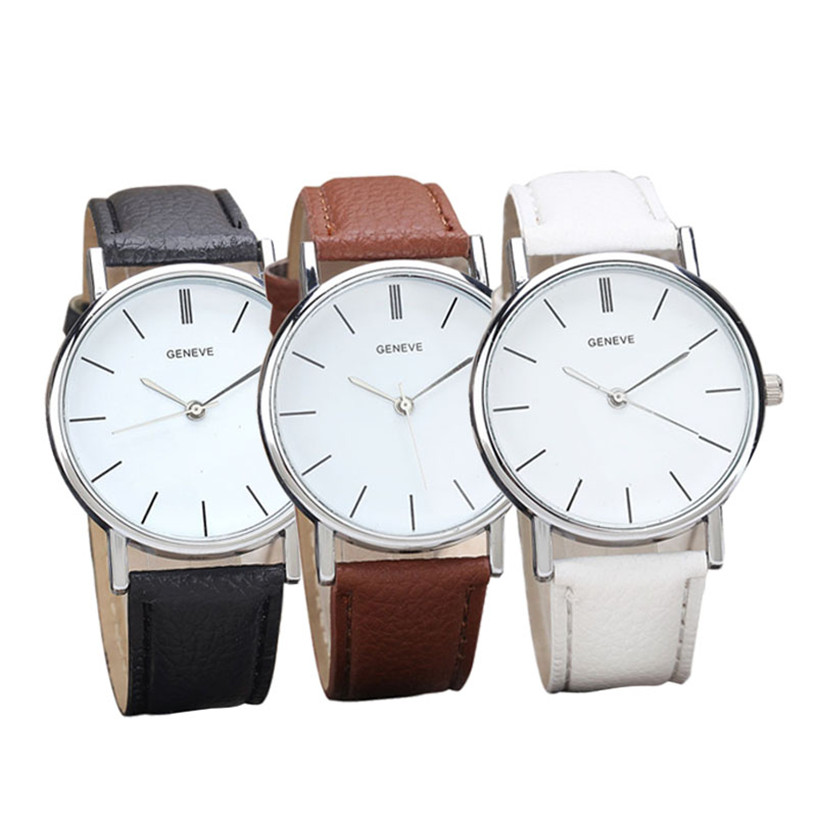 Womens Retro Design Leather Band Analog Alloy Quartz Wrist Watch Ladies Watch Gift Clock Relogio Masculino 2017 hot sale women s clock retro rainbow design watches pu leather band analog alloy quartz wrist watch relogio feminino m22