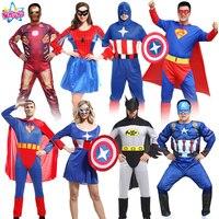 Darmowa wysyłka NoEnName cosply kostium dorosłych pająk batman superman captain America ubrania kostium mścicieli sojusz iron man