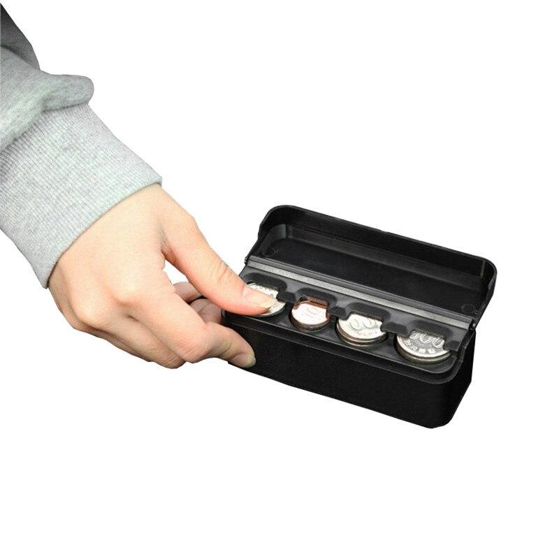 c3acdcb5b050 XUNZHE 1 pcs 11.6*4*3.8 cm Plástico caixa de moeda Euro-moeda Dispensador  de Moedas De Armazenamento On-board caixa de Armazenamento Titulares da  bolsa da ...