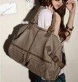 2015 женщин сумки путешествия случайные сумка с тремя большой брезентовый мешок, сумка женская сумка