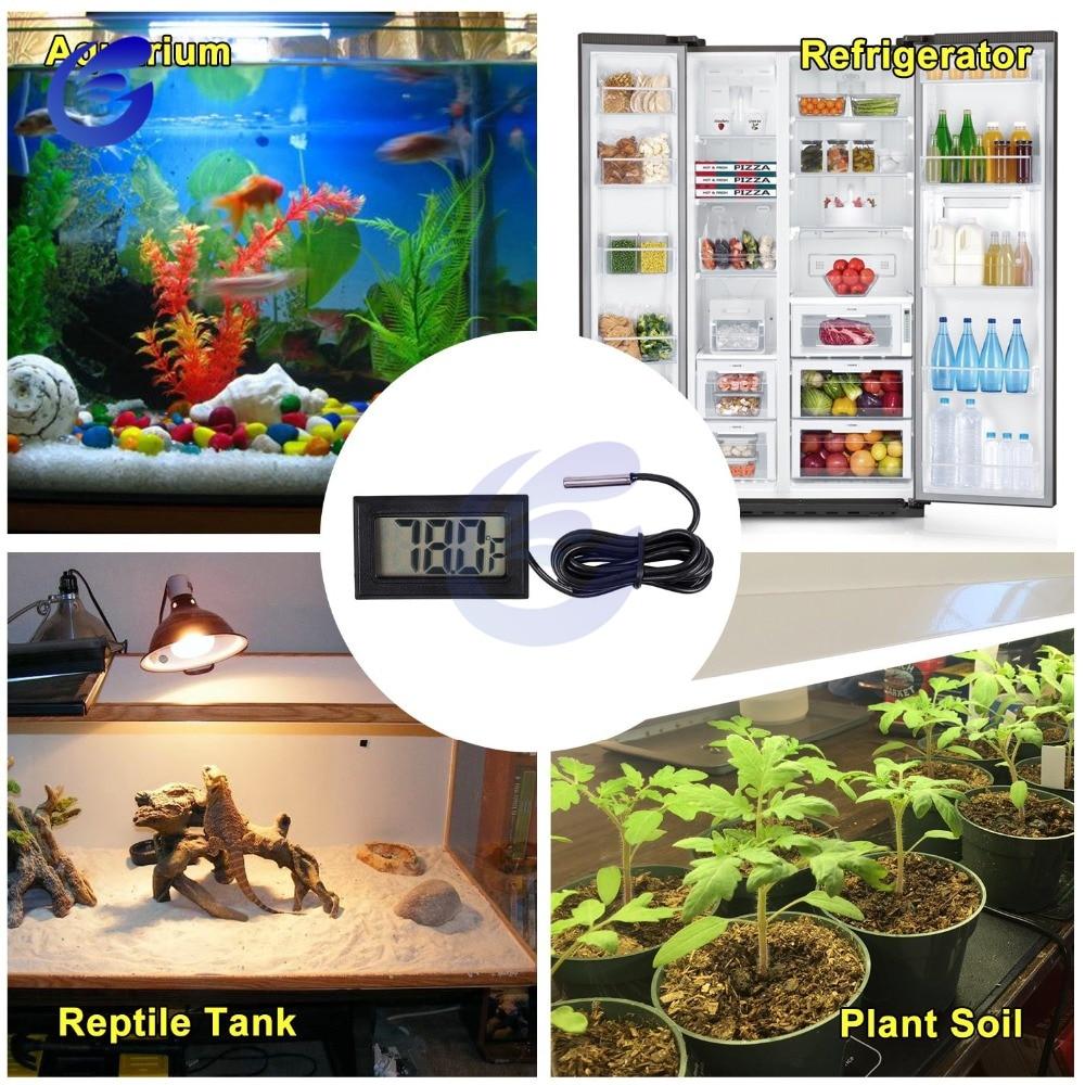 HTB10yGLacvrK1Rjy0Feq6ATmVXaS Mini Digital LCD Probe Fridge Freezer Thermometer Sensor Thermometer Thermograph For Aquarium Refrigerator Kit Chen Bar Use 1M