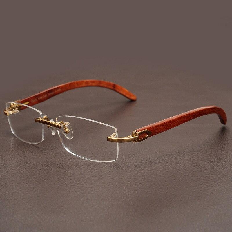 Cubojue деревянные очки Для мужчин золото оправы Оправы для очков для мужчин диоптрий близорукости Оптический Рецепт Элитный бренд мужской Дл...