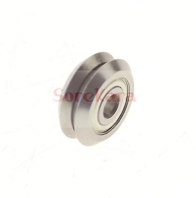 15*59.94*19.05mm W Groove 90 Guide Pulley Sheave Sealed Rail Ball Bearing