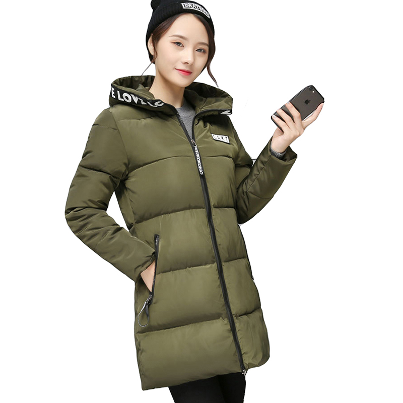 Women Parkas 2017 winter Women's Jackets Hooded Long Cotton Padded Jackets Warm Fashion cotton Coats plus size outerwear QH0666 winter jacket women nice new style parkas overcoat brand fashion hooded plus size cotton padded warm jackets and coats aw1148