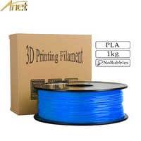 Anet 3d impressora 1 kg 1.75mm pla filamento materiais de impressão colorido para impressora 3d extrusora caneta plástico acessórios filamento