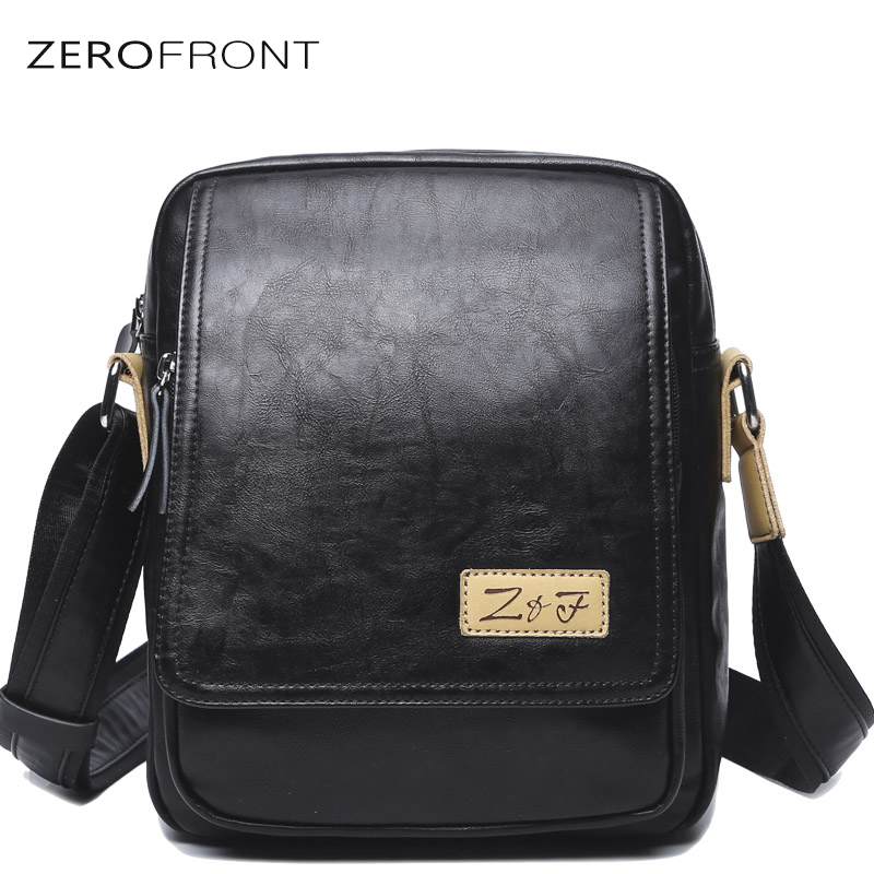 ZF Male's Hot-Selling Shoulder Bag PU Leather Crossbody Bags Business Messenger bag Brand Casual Large Capacity Crossbody Bags