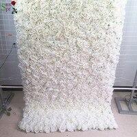 SPR закатать цветок из текстиля стены 4ft * 8ft Искусственный Свадебный случай фон цветочный орнамент украшения Бесплатная доставка