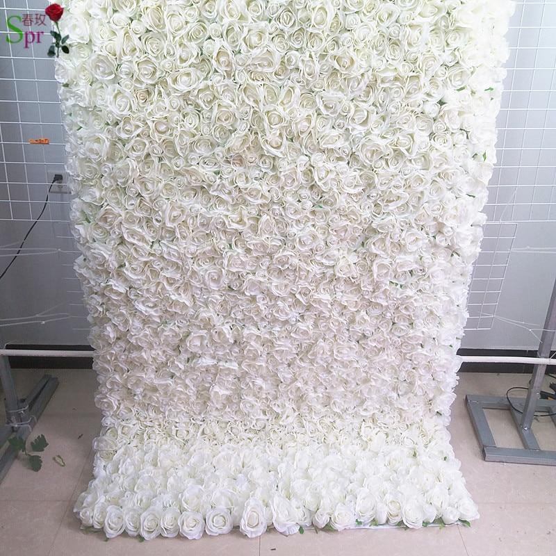 SPR retrousser tissu fleur mur 4ft * 8ft artificielle mariage occasion toile de fond arrangement fleurs décorations livraison gratuite