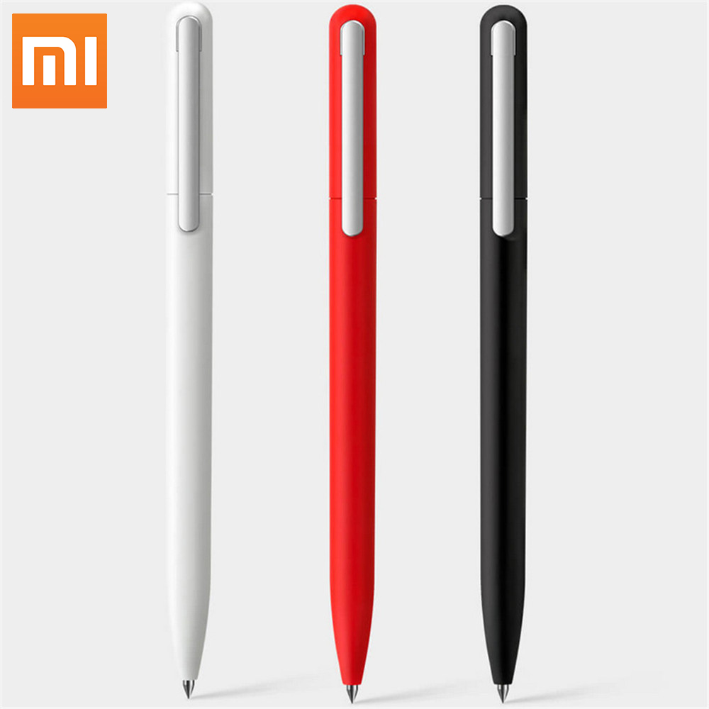 Original Xiaomi <font><b>Pen</b></font> Pinluo <font><b>pen</b></font> 3pcs Signing <font><b>Pen</b></font> 9.5mm 0.5 Ink Smooth Switzerland Black Refill MiKuni Japan Ink for Office