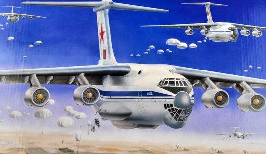 Assembling Model Aircraft Russian Air Force Il 76 Transport Aircraft 03901 Model Kit