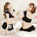 The explosion of new lady lace split skirt suit bar maid costumes nightclub woman's sexy lingerie sexy bodysuit