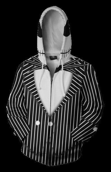 Jack Skellington Hoodies Cosplay Costumes Jack 3D printed zip-up hoodies New 2019 hoodie jacket men women sport Sweatshirts