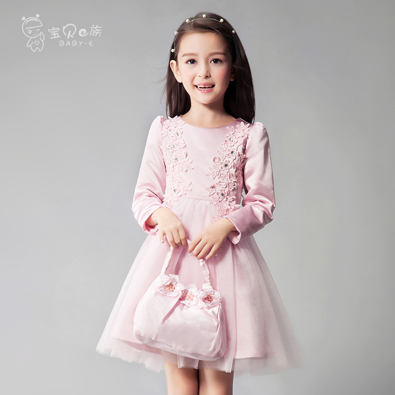Girl party dresses pink red princess long sleeve wedding birthday size for 5 6 7 8 9 10 11 12 13 14 15 16 years teenager girl lf40203 sexy white pink blue strappy heart heel wedge wedding sandals sz 4 5 6 7 8 9 10
